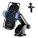YITUMU Car Wireless Charger, Auto-Clamping 10W Qi Fast Charging Dashboard and Air Vent Car Phone Holder for iPhone12 series/11/11Pro/XS/X/8/8+ Samsung S20 /S10 /S9 /S8 /Note10 /Note9 and More