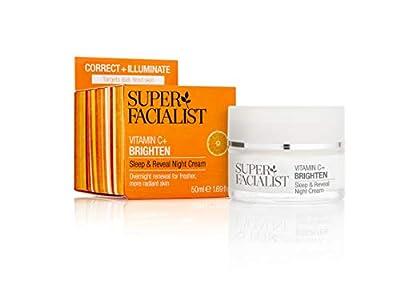Super Facialist Vitamin C Sleep and Reveal Night Cream 50ml. Womens Overnight Nourishing Face Cream, Anti-Oxidant Rich Reveals A Healthy Glow. Oil Free. from Brand Architekts