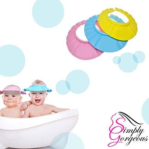 Bébé/Enfant shampooing bain douche lavage des cheveux bouclier - JAUNE