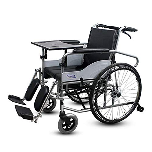 Lightweight Transport Chair, Fully Lying High Back Wheelchair, Elderly Disabled Person Folding Wheelchair,Transport Mobility Wheelchair