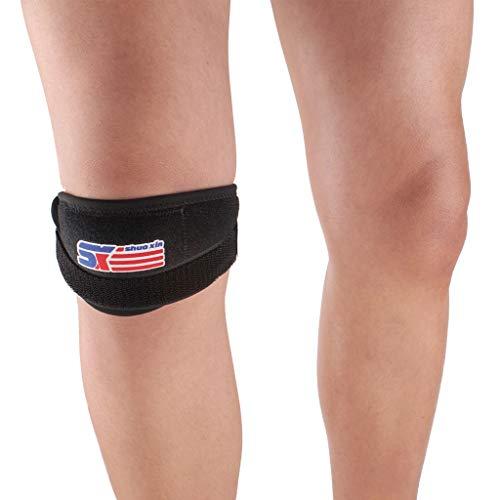 TcooLPE knieband, 1 paar musculoskeletale kniesteunbanden, verstelbaar kussen, voor voetbal, tennis, squat, hardlopen, voetbal, basketbal