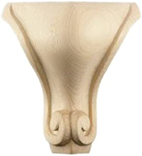 Queen Anne Scroll Bun Foot, Hard Maple