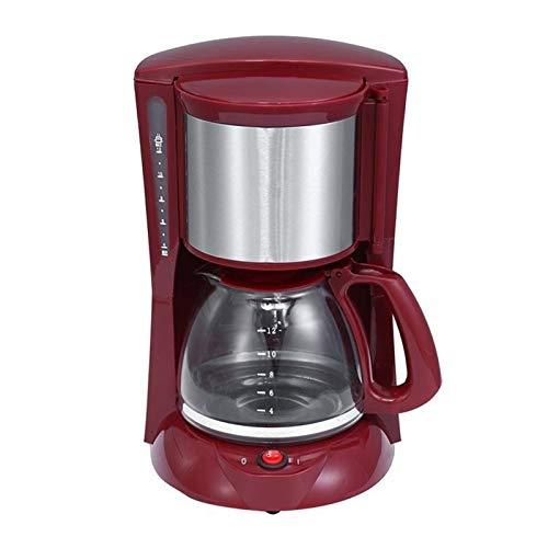 ekspres do kawy espresso 2L Coffee Cup Cup Espresso Drip Ekspres do kawy ze szklanym czajnikiem Proszek Filtr Anti-Drip Izolacja Teapot Konferenzzmer, Büro. (Color : Burgundy)