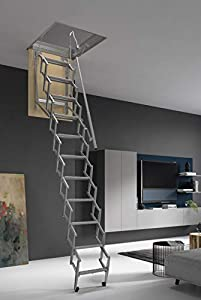 ¡HASTA 150 Kg DE CARGA! Escalera plegable y escamoteable para hueco de 50x90 cm.