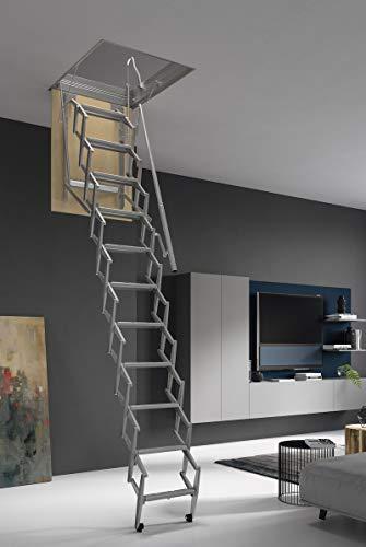 ¡HASTA 150 Kg DE CARGA! Escalera plegable y escamoteable para hueco de 70x100 cm.