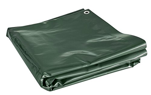 Windhager Houten dekzeil EXTRA HEAVY, dekzeil afdekzeil multifunctionele folie, gemaakt van scheurbestendig geweven, 2 x 10 m, groen 07043