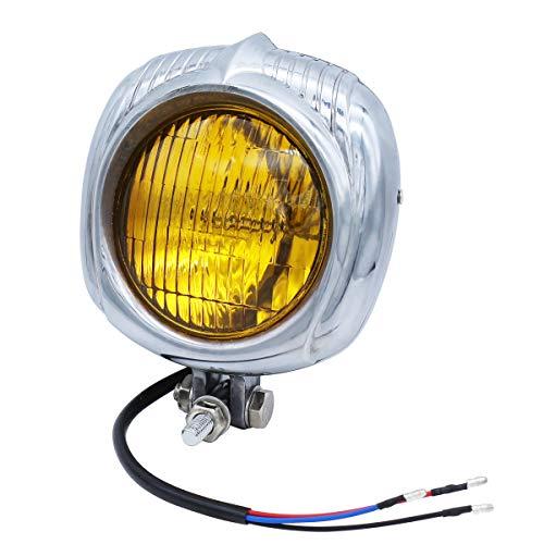 FATECIM Retro Vintage Polish Motorcycle Headlight Headlamp Sealed Beam...