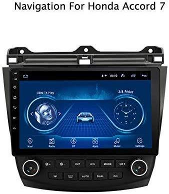 WY-CAR 10 Pulgadas en el Tablero Dash Car Stereo Android 8.1 MP5 Player para Honda Accord 7 (2003-2007), GPS Radio Stereo 2.5D de Pantalla táctil de Borde Curvo, WiFi, BT, inversión