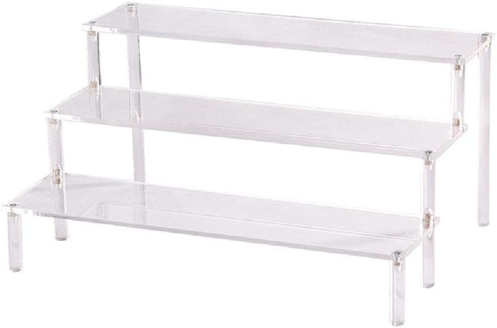 Unknows Vxeqnr 3 Tier Riser Display Showcase for NEW before selling ☆ Fi Shelf Action Max 83% OFF