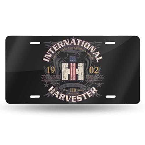 Mr.ChenFang Designs Ih American Farmer - CASE IH International Harvester Design Novelty Vanity License Plates Tag Sign 6 Inch X 12 Inch