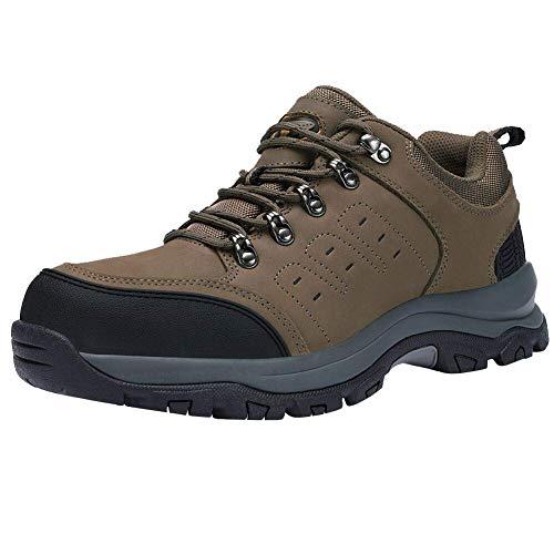 Zapatos de Senderismo al Aire Libre Zapatos de Escalada Zapatillas de montaña Ideal para Deportes Caminar Caza atlético Adecuado para Damas de Hombres (44.5 EU, Khaki)