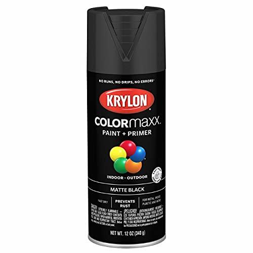 Krylon K05592007 COLORmaxx Spray Paint, 12 Ounce (Pack of 1), Black