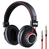 Bluetooth Headphones Wireless Over Ear Headset - Hi-Fi Stereo Sound with Deep Bass, 2020 Handmade Style Extra Comfortable and Lightweight Bluetooth Headphone with Mic, Unique Gifts for Women/Men