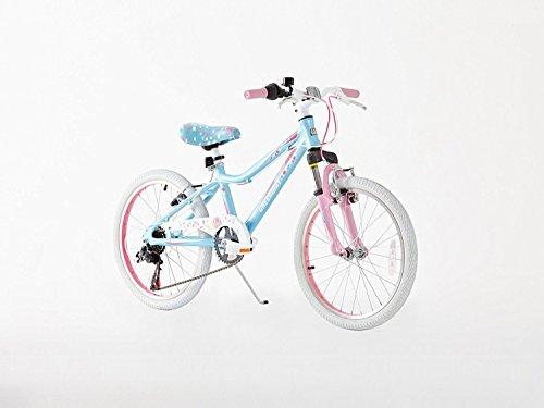 Northwest Guitars–20pulgada para bicicleta de montaña de aleación de las niñas–Luz Peso Suspensión montaña Bike- azul