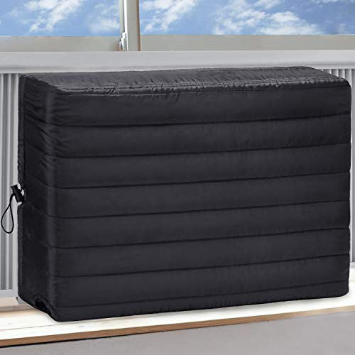 BRIVIC Indoor Air Conditioner Cover AC Cover for Inside Window Unit 25 x 17 x 3.5 inches(L x H x D),Black