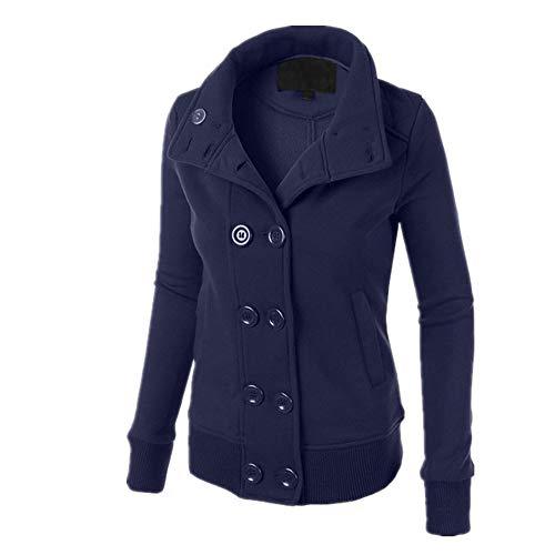 SFYZY Europa und den Vereinigten Staaten Winter Zweireiher Samt Pullover einfarbig Langarm-Mode Pullover Frauen Langarm-Sweatshirt mit Mütze Pullover