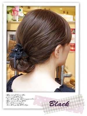 haclm736nnmigヘアアクセサリー髪飾り(リトルムーン)テールクリップシイラミントグリーン