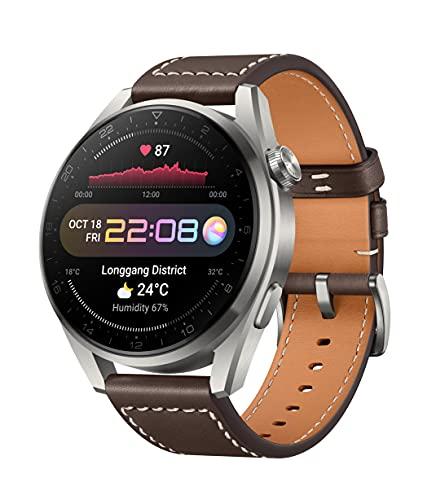 Huawei Watch 3 Pro Klassisches braunes Lederarmband
