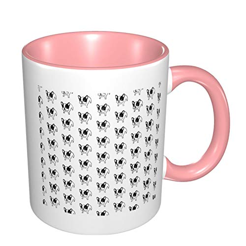French Bulldog Dog Funny Coffee Tea Mug Personalised Mug Novelty Gift For Christmas Pink