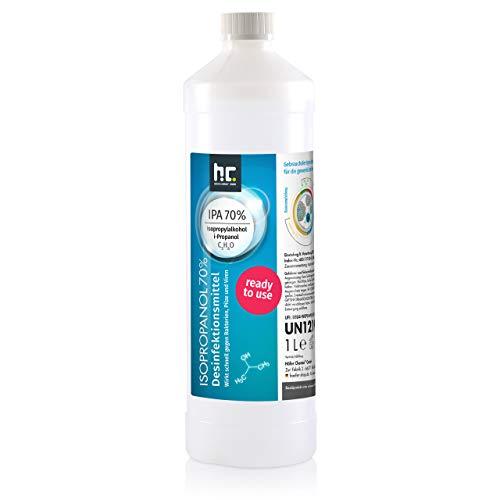 6 x 1 L Zugelassenes Desinfektionsmittel für Hände & Flächen - anwendungsfertig - auch geeignet für Lebensmittelindustrie