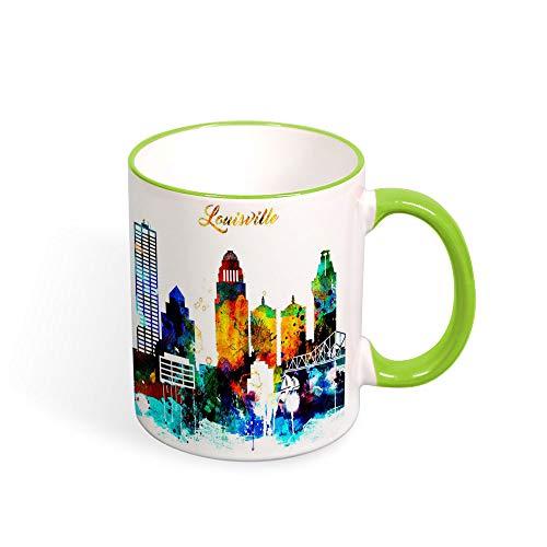 Louisville Taza, Louisville taza de café, Kentucky City taza de café, recuerdo de viaje, cumpleaños, Navidad, aniversario, regalo, idea de té, 325 ml
