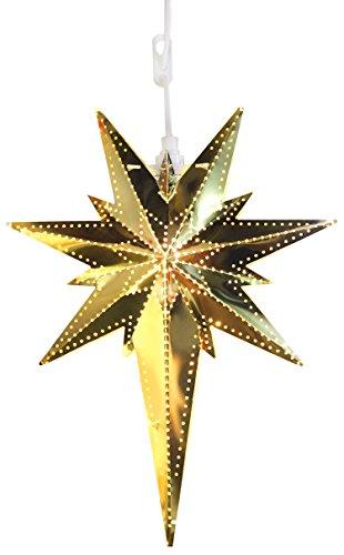 Star 711 – 00 Bethlehem ster van messing met soquet E14 goud 35 x 25 cm