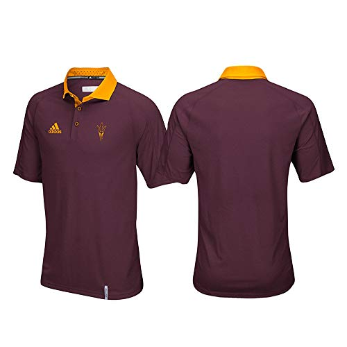 adidas Arizona State Sun Devils NCAA Men's Sideline Climachill Performance Maroon Polo Shirt (XL)
