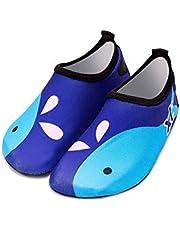 Bestgift Men's Women's Quick-Dry Non-slip Swimming Beach Shoes Blue Whale 36-37