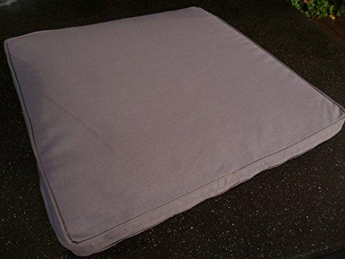 IKEA 2 Stück Loungekissen/Sitzkissen Merano Dessin 50110-710 Maße: ca. 50x50x5cm mit Reißverschluss Bezug 100% Baumwolle Farbe: Grau