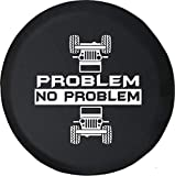Spare Tire Cover Problem - No Problem Rolled & Flipped Black Size 35 Inch