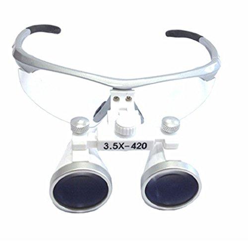 Dentist Silver Lupenbrille für Zahnarzt, optisches Glas, 3,5x420mm