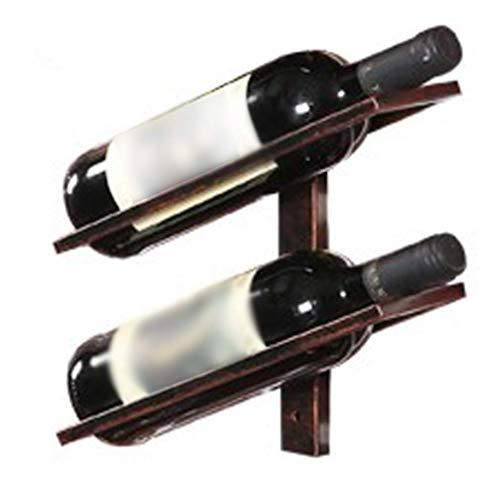 Accueil Ustensiles de cuisine Gadgets Casier à vin mural en fer forgé rétro accessoires de décoration de bar de maison et de cuisine Multicolore et multi-tailles en option (couleur: Bronze Taille: