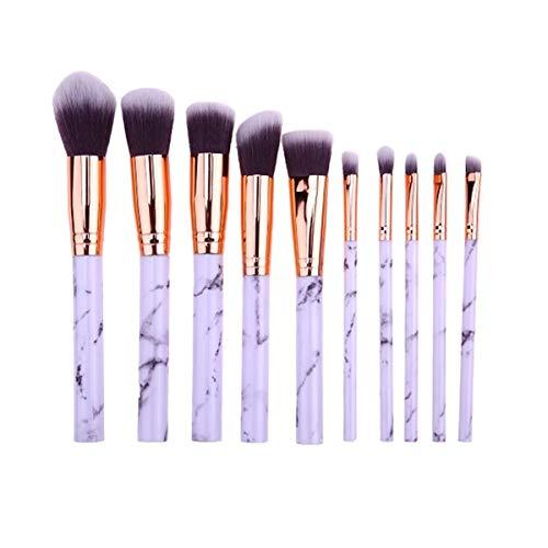 WEKDU Maquillage Brosses visage teint poudre cils fard à paupières Make Up Pinceaux Brosse à cheveux, 10Pcs (Couleur : 10Pcs, Size : One Size)