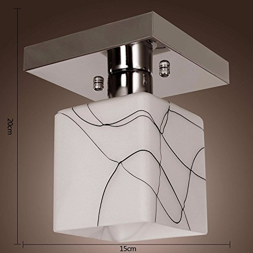 BAJIAN-LI RVS plafondlamp in kubusvorm, moderne mini-stijl spoelsteun voor keuken