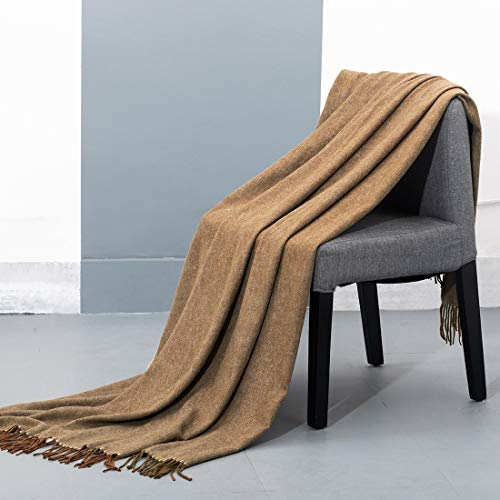 spencer & whitney Bed Blanket Wool Throw Blanket 70% Wool...