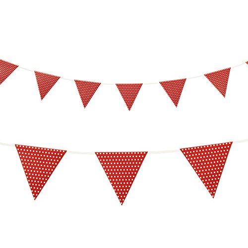 Generique - rode slinger met polka dots