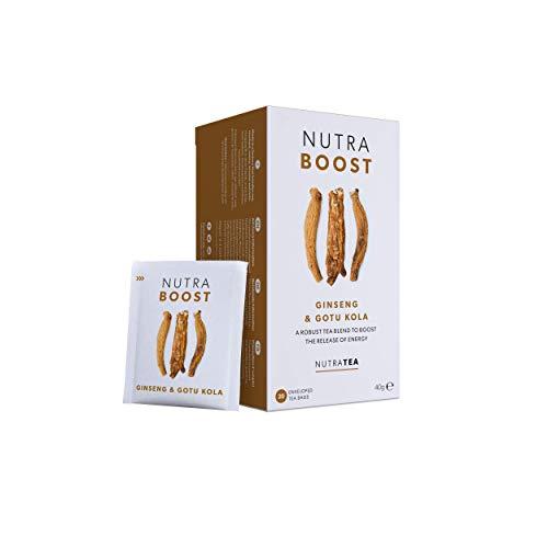 NutraBoost - Energie Tee - Natürlich koffeinfrei und zuckerfrei - 60 Verpackte Teebeutel - von Nutra Tea – Kräutertee – (3 Packung)
