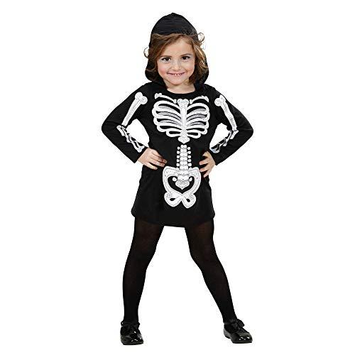 WIDMANN-Scheletro Glamour 28489 - Disfraz infantil (110 cm/3 – 4 años), multicolor