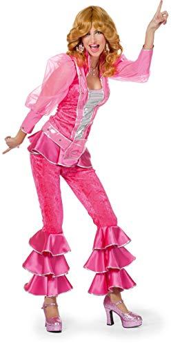 Deluxe roze Mamma Mia kostuum voor vrouwen - Abba