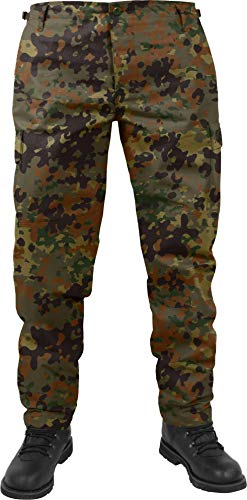 normani US Herren BDU Feldhose aus robustem Ripstop Material Farbe Flecktarn Größe XS