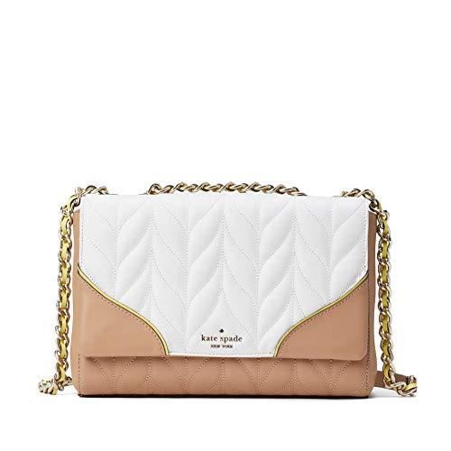 Kate Spade Briar Lane Leather Medium Convertible Shoulder Bag Purse Handbag (White Dove Multi)