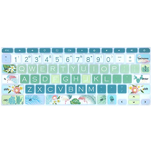 Keyboard Skin for Acer Chromebook Spin 11 311 CP311 511 512/Chromebook Premium R11 CB5-132T CB3-132 CB3-131/Chromebook R 13 CB5-312T/Chromebook 14 CP5-471/Chromebook 15 CB3-532 CB5-571 C910,Flamingo
