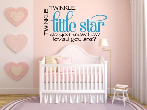 Twinkle Little Star Vinyl Decal Wall Art Words Sticker Lettering Quote Baby Nursery D?or by Enchantingly Elegant