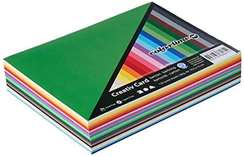Colortime 214260 papier cartonné coloré, A6 105x148 mm, 180 gr, Couleurs assorties, 120flles. ass.