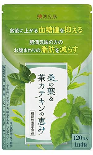 [Amazon限定ブランド] 漢方セレクト 桑の葉 茶カテキン 機能性表示食品 120粒 9種類の和漢 お腹の脂肪を減らす 内臓脂肪 サプリ