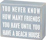 Primitives by Kathy 16355 Beach-Inspired Box Sign, 5' x 4' x 1.75', Beach House Friends