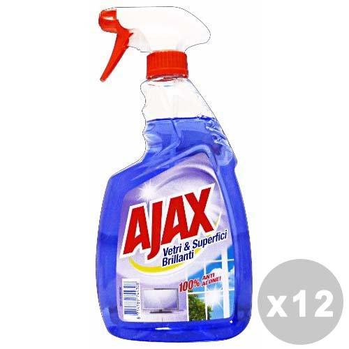 Set 12Ajax Glasscheiben Trigger 750ml. Reinigungsmittel Haus