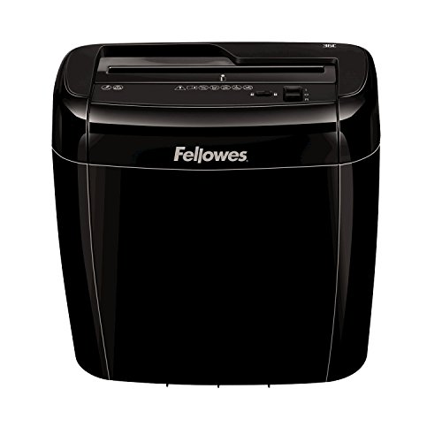 Fellowes 36C - Destructora trituradora de papel, 6 hojas, color Negro