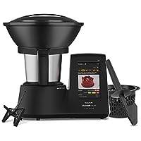 Taurus Mycook Touch Black Edition - Robot de Cocina, wifi, 1600W, 2L, hasta 140º, multifunción, más de 8000 recetas gratuitas, Vaporera 2 niveles y cestillo