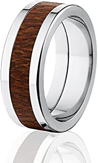 New Leopard Wood Rings, Exotic Hard Wood Wedding Band w/ Comfort Fit